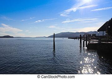 Lake Maggiore with pier