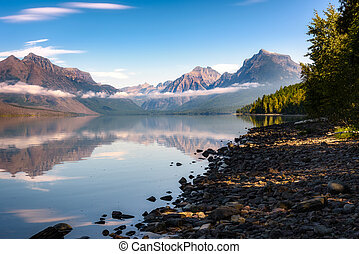View of Lake McDonald in Montana