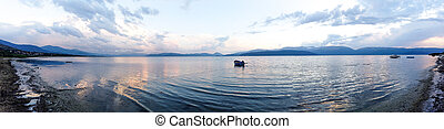 View of lake Prespa ,panorama from Pretor settlement image