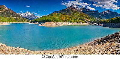View of Lake Sautet