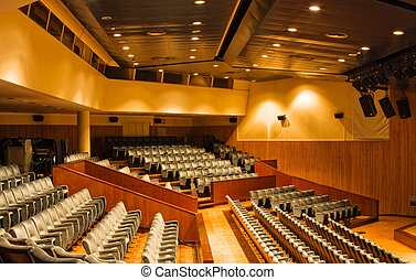 View of large and modern universitary auditorium