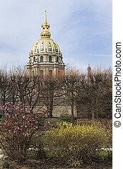 view of Les Invalides in Paris