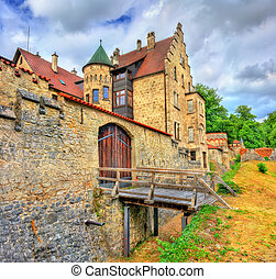 View of Lichtenstein Castle in Baden-Wurttemberg, Germany -...