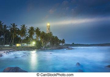 View of lighthouse Dondra Matara, Sri Lanka