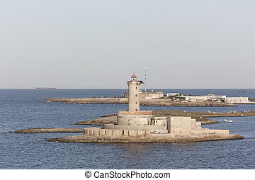 View of lighthouse in Brindisi