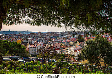 view of Lisbon rooftops - View of dowton Lisbon from Graca ...