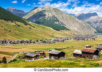 view of Livigno valley in summer