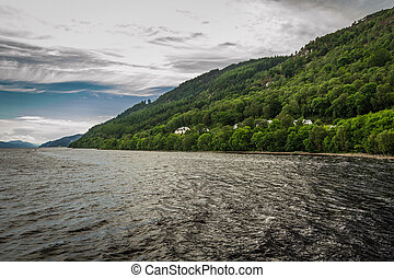 View of Loch Ness in the summer