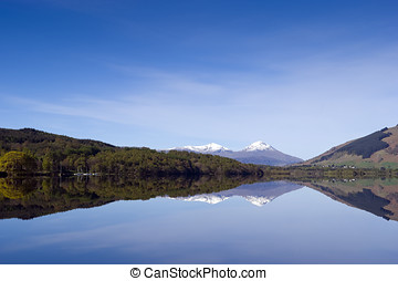 Loch Tay - View of Loch Tay from kayak Perthshire Scotland