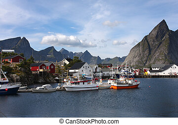bay - view of Lofoten archipelago bay