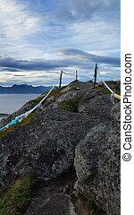 View of Lofoten Islands in Norway