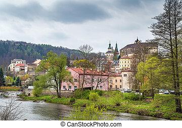 View of Loket city, Czech republic