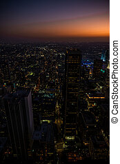 View of Los Angeles downtown, USA