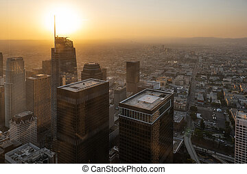 View of Los Angeles downtown, USA/