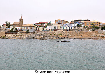 View of Luderitz in Namibia