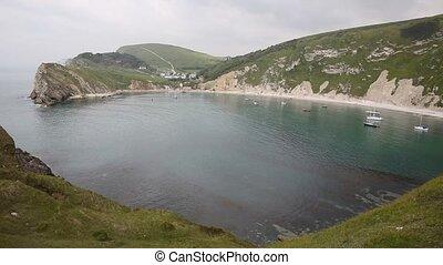 View of Lulworth Cove Dorset - Lulworth Cove Dorset England...