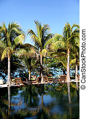 View of luxury resort swimming-pool