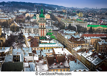 View of Lviv from the roof