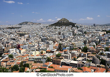 View of Lycabettus Hill in Athens