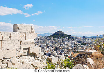 view of Lycabettus Mount in Athens city