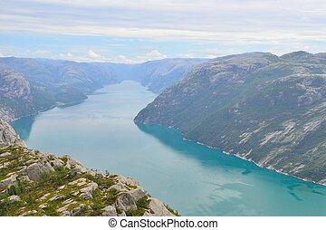 Lysefjord from the Pulpit rock