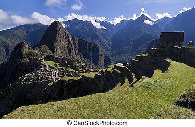 View of Machu Picchu, Peru - General View of Inca City of...