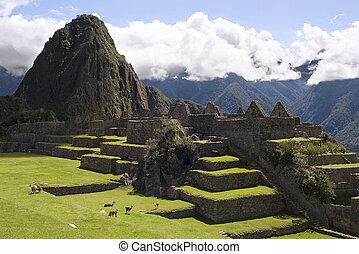 View of Machu Picchu, Peru - View of inca city of Machu...