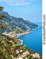 View of Maiori from Ravello - the Amalfi Coast