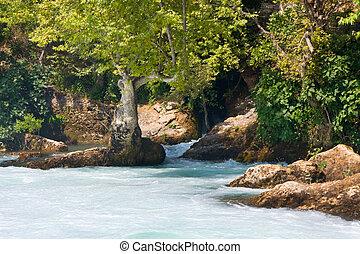 view of Manavgat waterfall in Turkey