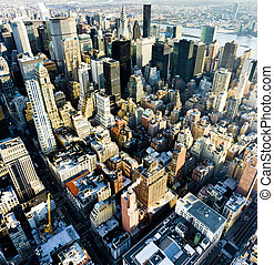 view of Manhattan from The Empire State Building, New York ...