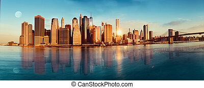 View of Manhattan in the morning