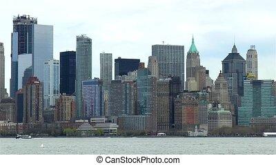 View of Manhattan, New York, USA.