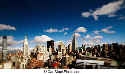 view of manhattan skyline from a high vantage point