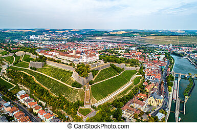 View of Marienberg Fortress in Wurzburg, Germany