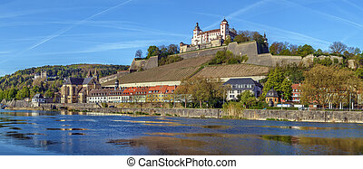 View of Marienberg Fortress, Wurzburg, Germany