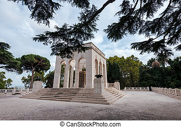 View of Mausoleum ossuary of the Janiculum hill, dedicated ...