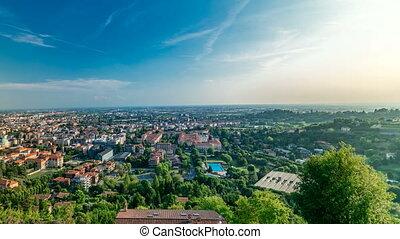 View of medieval Upper Bergamo timelapse - beautiful...