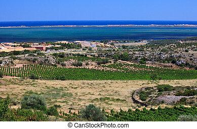 view of mediterranean sea coast, France