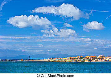 view of mediterranean sea coast