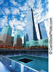 View of memorial 911 in New York, USA