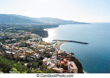 View of Meta on the Amalfi Coast