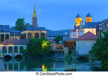 Metz at a summer night