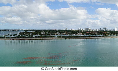 View of Miami in Florida, USA