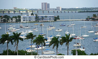 View of Miami in Florida