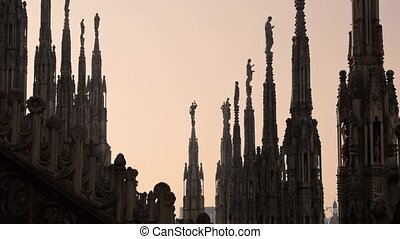 View of Milan city, dome - Italian landmark: view of Milan...