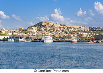 View of Milazzo town from the sea