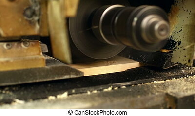 View of milling cutter grinding board, close-up -...