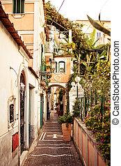 View of Minori town, Italy - Panoramic view of small cozy ...