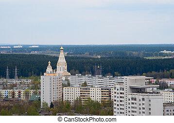 View of Minsk uptown, Belarus