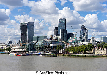 View of modern architecture in the City of London